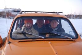 Stefan Sirpa Kalle i bil